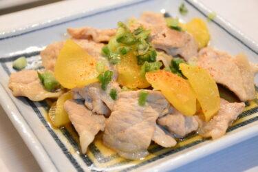 豚たく(豚肉とたくあんの炒め物)