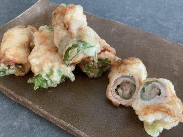 豚肉のたくあん天ぷら